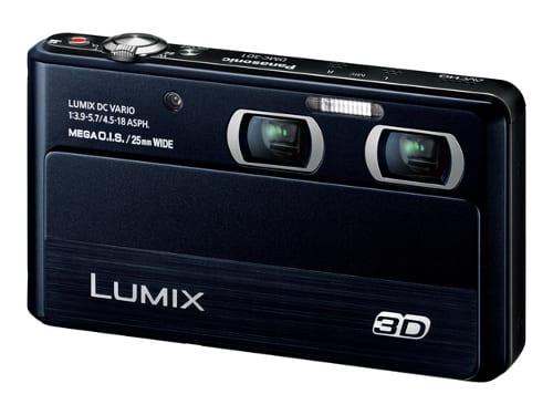レンズが二個ある3Dカメラ