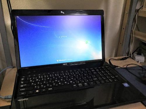 今回修理したノートパソコン