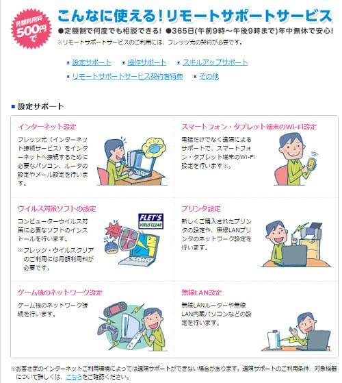 NTT東日本「リモートサポートサービス」