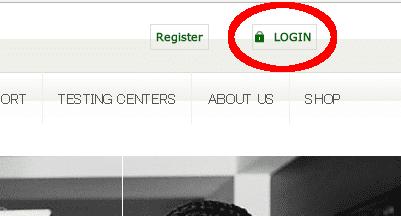 Certiportログインボタン