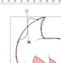 ひげをマウスで動かすと曲線が変わります