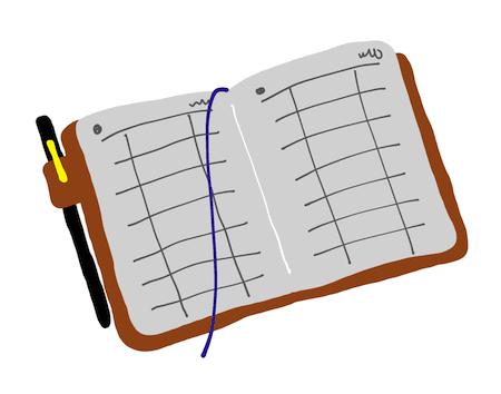 パスワード専用の手帳