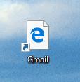 Edgeの絵柄のGmailショートカット