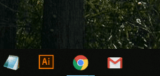 タスクバーにGmailが入った