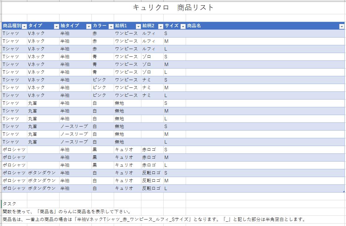 CONCAT()関数想定問題